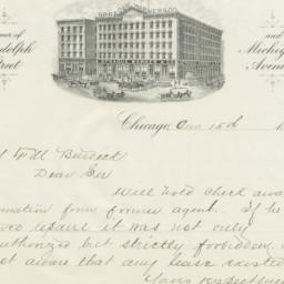 Sprague, Warner & Co.. Letter