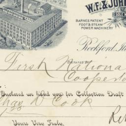 W. F. & John Barnes Co.. Check