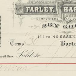 Farley, Harvey & Co.. Bill