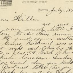 Isaac N. Tucker. Letter