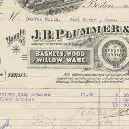 J. B. Plummer & Co.. Bill