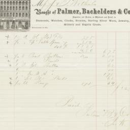 Palmer, Bachelders & Co.. Bill