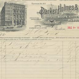 Parker, Holmes & Co.. Bill