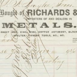 Richards & Co.. Bill