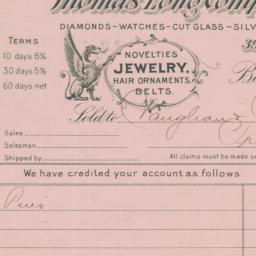 Thomas Long Company. Bill