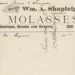 Wm. A. Shapleigh & Co.. Bill