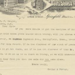 Cutler & Porter. Letter
