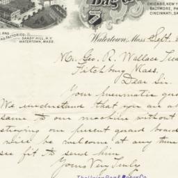 Union Bag & Paper Co.. Letter