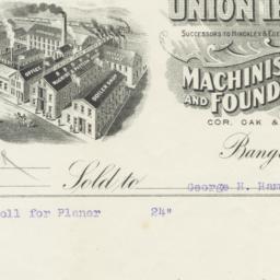 Union Iron Works. Bill