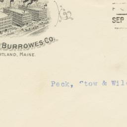 E.T. Burrowes Co.. Envelope