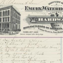 Emery, Waterhouse & Co.. Bill