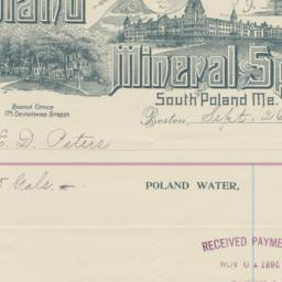 Poland Mineral Springs. Bill