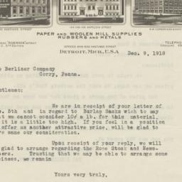 D. Robinson. Letter