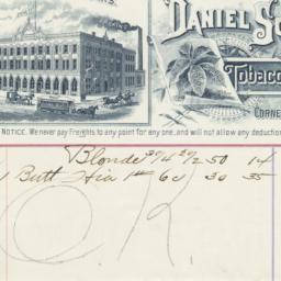 Daniel Scotten & Co.. Bill