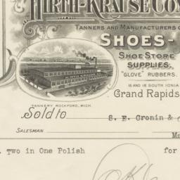 Hirth-Kraus Company. Bill