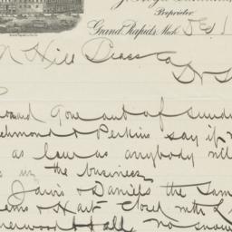 Morton. Letter