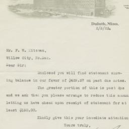 Marshall-Wells Company. Letter