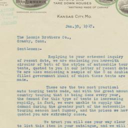 Carnie-Goudie Mfg. Co.. Letter