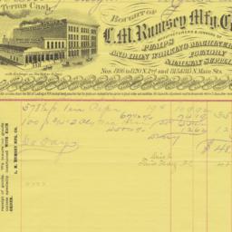 L.M. Rumsey Mfg. Co.. Bill