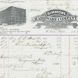 Simmons Hardware Company. Bill