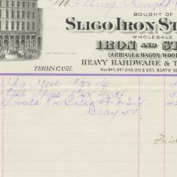 Sligo Iron Store Co.. Bill