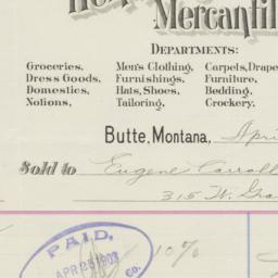 D.J. Hennessy Mercantile Co...