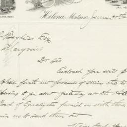 Lewis and Clark County. Letter