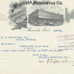 Missoula Mercantile Company...