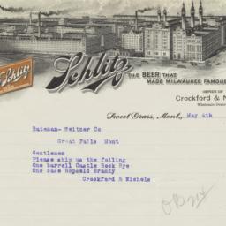Schlitz. Letter