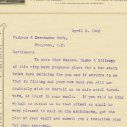 Walker Bros. & Hardy. Letter