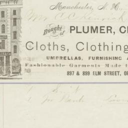 Plumer, Chandler & Co.. Bill