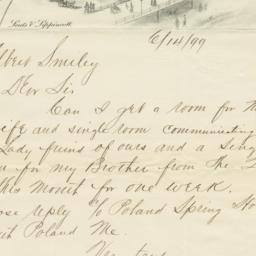 Haddon Hall. Letter