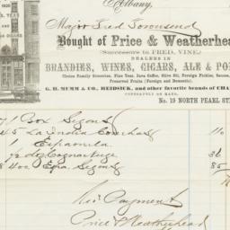 Price & Weatherhead. Bill