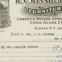 R. C. Reynolds Co.. Bill