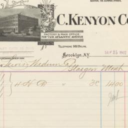 C. Kenyon Co.. Bill