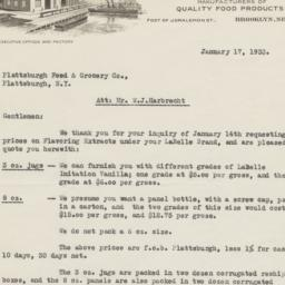 Fred Fear & Co.. Letter