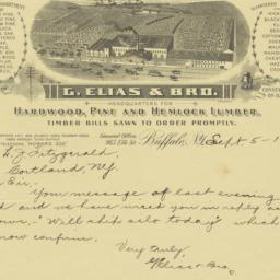 G. Elias & Bro.. Letter
