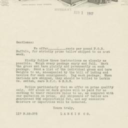 Larkin Co.. Letter