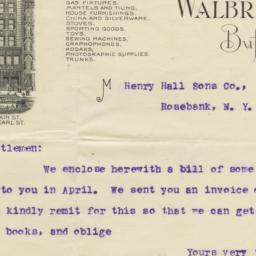 Walbridge & Co.. Letter