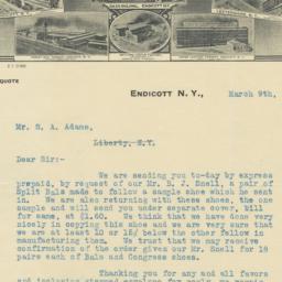 Endicott Johnson Co.. Letter