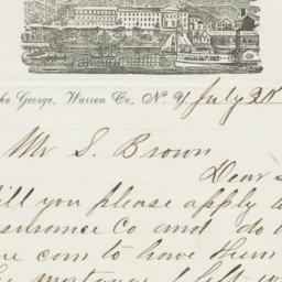 Lake House. Letter