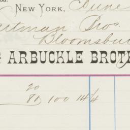 Arbuckle Bros.. Bill