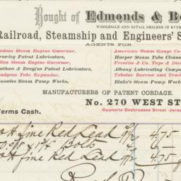 Edmonds & Benton. Bill