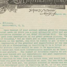 Gay Brothers & Company. Letter