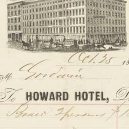 Howard Hotel. Letter