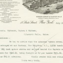 J. B. King & Co.. Letter