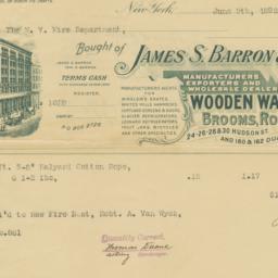 James S. Barron & Co.. Bill