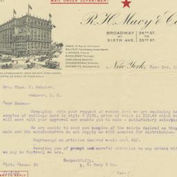 Macy's. Letter