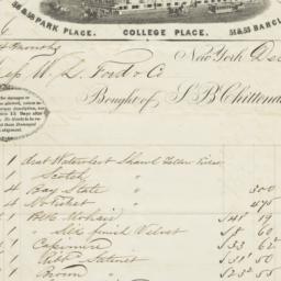 S. B. Chittenden & Co.. Bill