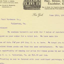 Theo. P. Huffman & Co.. Letter
